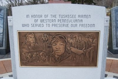 Tuskegee Airmen Memorial Marker image. Click for full size.