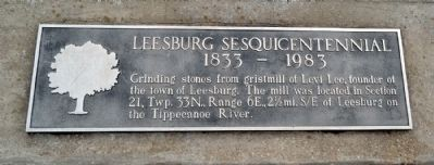 Leesburg Sesquicentennial Marker image. Click for full size.
