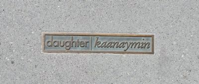 Rammaytush Mini-plaque: daughter|<i>kaanaymin</i> image. Click for full size.