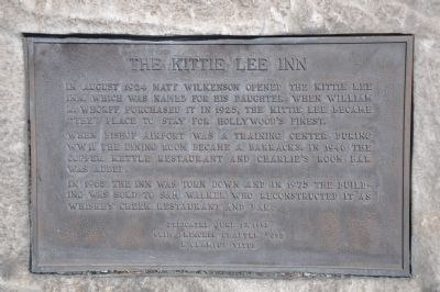 The Little Kittie Inn Marker image. Click for full size.