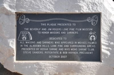 Lone Pine Film Museum Marker image. Click for full size.