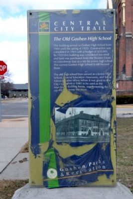 The Old Goshen High School Marker image. Click for full size.