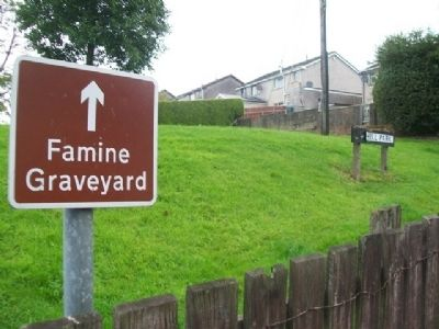 Entrance to Famine Graveyard at Reihill Park image. Click for full size.