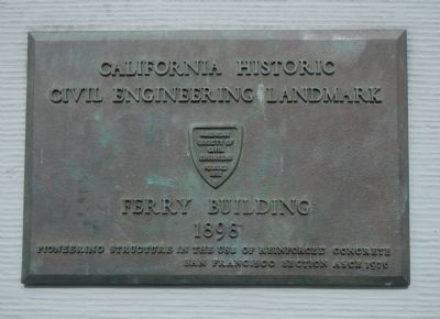 San Francisco Ferry Building, an engineering landmark image. Click for full size.