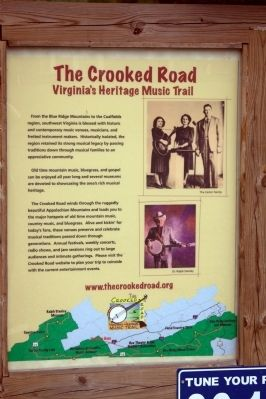 The Crooked Road Face of Marker image. Click for full size.