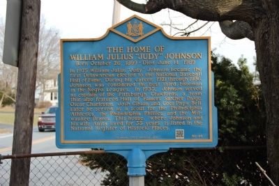 "The Home of William Julius ""Judy"" Johnson Marker image. Click for full size."