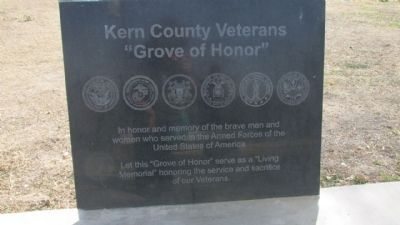 Kern County Veterans Marker image. Click for full size.