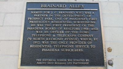 Brainard Alley Marker image. Click for full size.