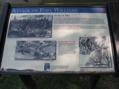 Attack on Fort Williams Marker image. Click for full size.