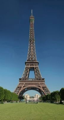 Eiffel Tower, seen from the <i>champ de Mars,</i> Paris, France image. Click for full size.