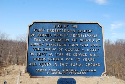 Site of the First Presbyterian Church of Beaver County Pennsylvania Marker image. Click for full size.