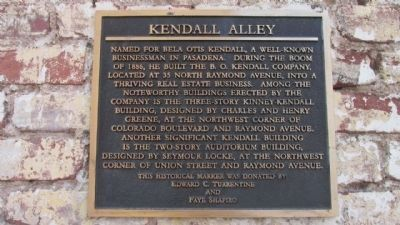 Kendall Alley Marker image. Click for full size.