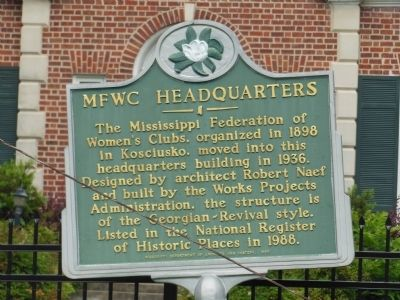 MFWC Headquarters Marker image. Click for full size.
