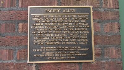 Pacific Alley Marker image. Click for full size.