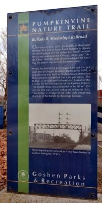 Buffalo & Mississippi Railroad Marker image. Click for full size.