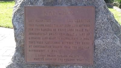 Ranchos Marker image. Click for full size.