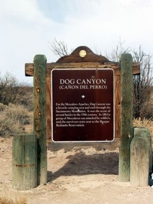Dog Canyon Marker image. Click for full size.