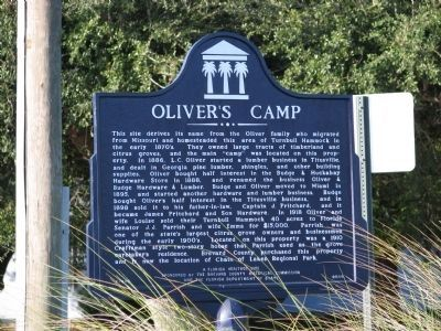 Oliver&#39;s Camp Marker (<i>wide view</i>) image. Click for full size.