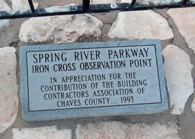 Iron Cross Observation Point Placard image. Click for full size.