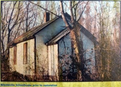 Brookeville Schoolhouse prior to restoration image. Click for full size.
