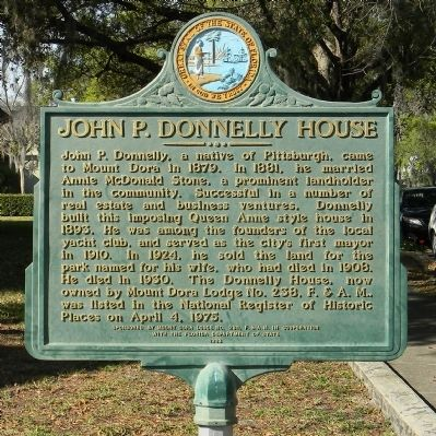 John P. Donnelly House Marker image. Click for full size.