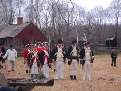 Colonial Soldiers at the Wick Farm Garden image. Click for full size.