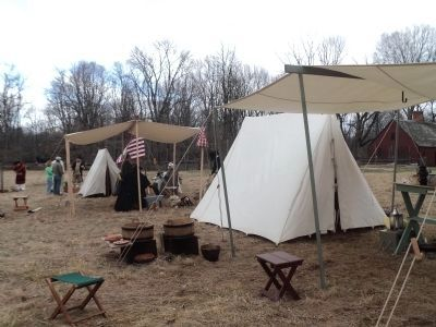 Colonial Army Encampment on the Wick Farm image. Click for full size.