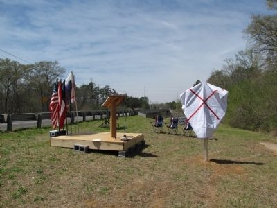 Skirmish at Woodall's Bridge Marker Photo, Click for full size