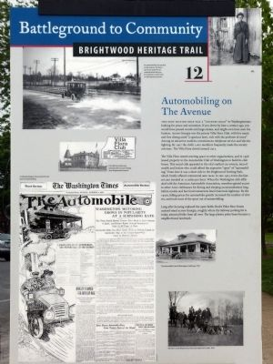 Automobiling on The Avenue Marker image. Click for full size.