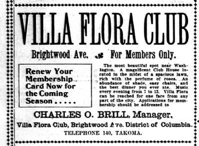 Villa Flora Club<br>The Most Beautiful Spot Near Washington image. Click for full size.