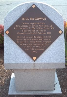Bill McGowan Marker image. Click for full size.