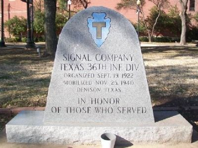 Signal Company Texas 36th Inf. Div. Veterans Memorial image. Click for full size.