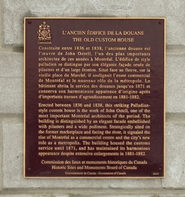 L�Ancien �difice de la Douane / The Old Custom House Marker image. Click for full size.