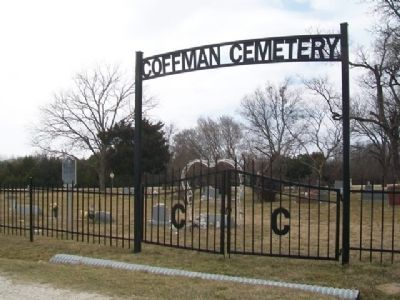 Coffman Cemetery and Marker image. Click for full size.
