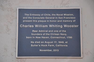 Charles William Whiting Wooster Marker image. Click for full size.