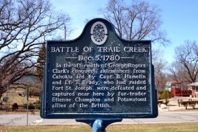 Battle of Trail Creek Marker image. Click for full size.