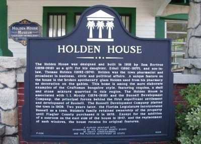 Holden House Marker image. Click for full size.