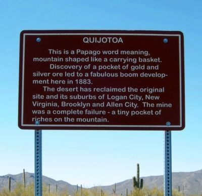 Quijotoa Marker image. Click for full size.