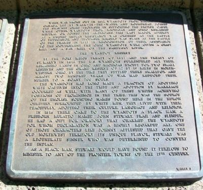 The History of the Wyandot Indian Nation Tablet 5 image. Click for full size.