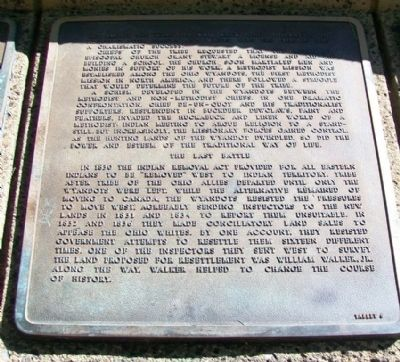 The History of the Wyandot Indian Nation Tablet 6 image. Click for full size.