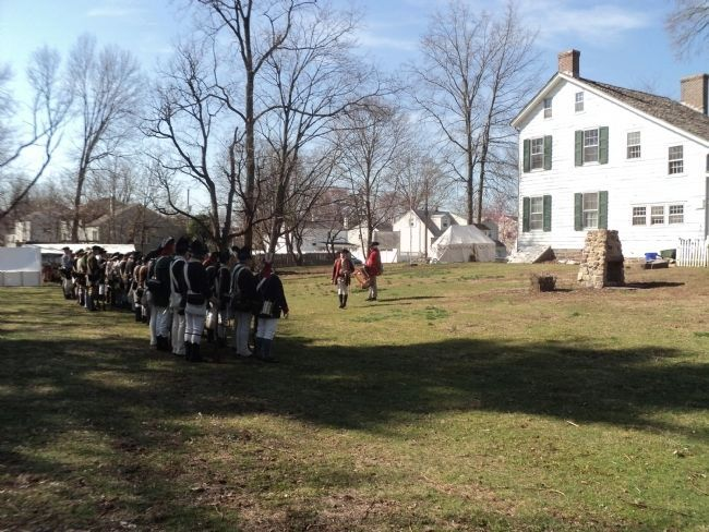 Encampment at the Abraham Staats House image. Click for full size.