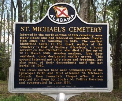 St. Michael's Cemetery Marker image. Click for full size.