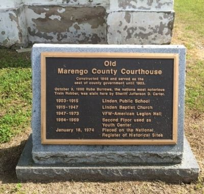 Old Marengo County Courthouse Marker image. Click for full size.