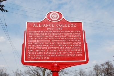 Alliance College Marker image. Click for full size.