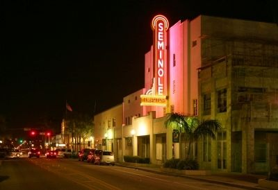 The Seminole Theater Marker image. Click for full size.