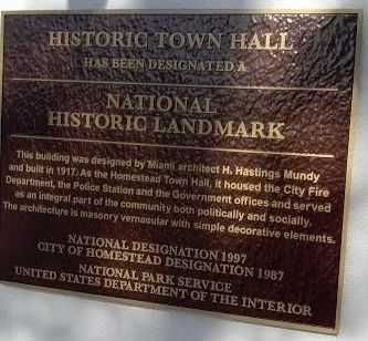 Homestead Historic Town Hall Marker image. Click for full size.