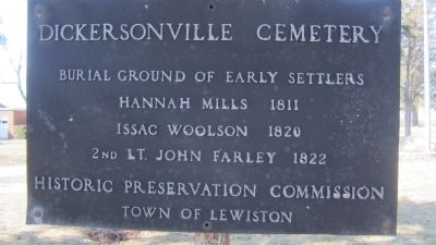 Dickersonville Cemetery Marker image. Click for full size.