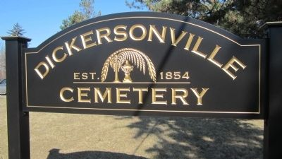 Dickersonville Cemetery Sign image. Click for full size.