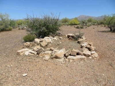 Unmarked grave at Historic Pinal Cemetery image. Click for full size.