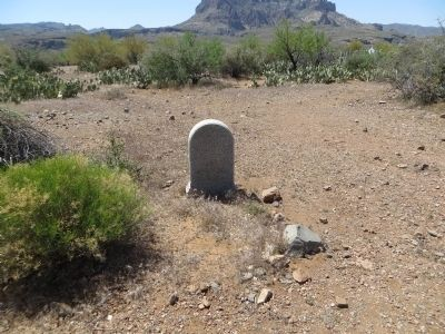 Grave at Historic Pinal Cemetery image. Click for full size.